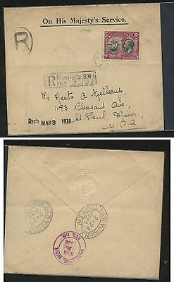 Burma  Peace stamps on cover  to  US  1946            AT0705