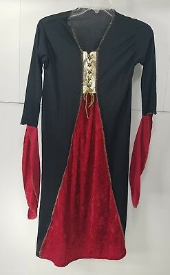 Pre Halloween (Pre Owned Girls Medieval Princess Lady In Waiting Halloween Dress-up Costume T3)