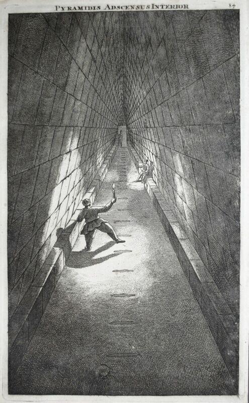 1700 Pyramid Giza Cheops-Pyramide Egypt Kupferstich engraving Brujin Bruyn