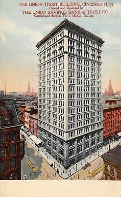 Cincinnati Ohio The Union Saving Bank And Trust Company 1910 Postcard