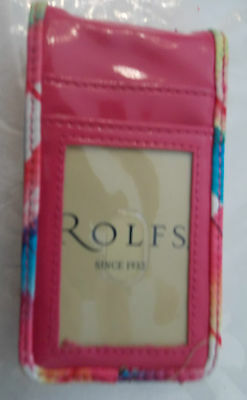 New ROLFS Pink Floral Leather iPhone 4 4s Cell Phone Smartphone Case Credit Card