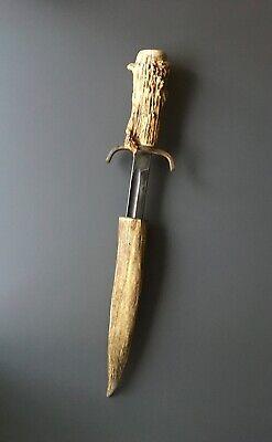 Vintage Kissing Crane Robert Klaas Solingen Knife - Stag Horn Handle & Sheath
