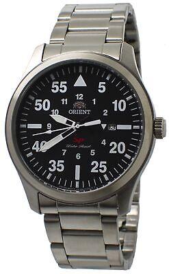 Orient Flight FUNG2001B0 Black Dial Stainless Steel Men's Sporty Watch