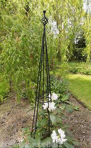 Finial Metal Obelisk   Climbing Plant Garden Support   Plant Support
