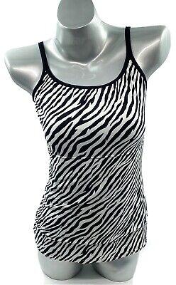 Sweet Nothings Tank Top 2XL White Black Zebra Animal Print Camisole Cami Womens Sweet Womens Tank Top