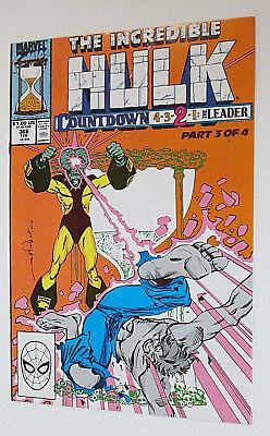 Marvel Comics The Incredible Hulk #366 Copper Age February 1990 Countdown 4-3-2