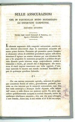 NANNINI SULLE ASSICURAZIONI CHE RIGUARDANO GL'INFORTUNI CAMPESTRI LAMPATO 1832
