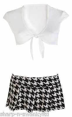 Damen Sexy Erwachsene st Trinians High School Mädchen Kostüm Kleid Outfit 8-12 (St Trinians Kostüme)