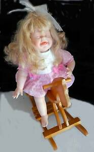 Sweet 1992 Ashton Drake doll on a wooden Rocking Horse Nowra Nowra-Bomaderry Preview