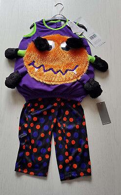 GEORGE (UK) süßes Baby Kinder KÜRBIS SPINNE Kostüm Gr. 80/86/92 1-2J. HALLOWEEN  ()