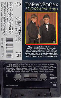 EVERLY BROTHERS - 20 Golden Love Songs ★ MC Musikkassette Cassette