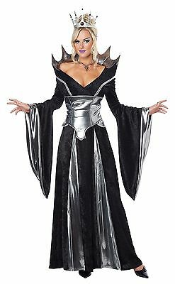Ladies Sexy Evil Queen Sorceress Fairytale Women Halloween Fancy Dress Costume