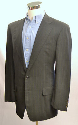 High Performance Charcoal (ERMENEGILDO ZEGNA High Performance 100% Wool Blazer 42L Charcoal Gray Pinstripe)