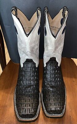 NEW Double-H Steel Toe Work BootsCaiman PrintWide Square Toe 11.5EE DH5230