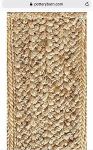 100% Jute Area Rug from Pottery Barn * Like New *