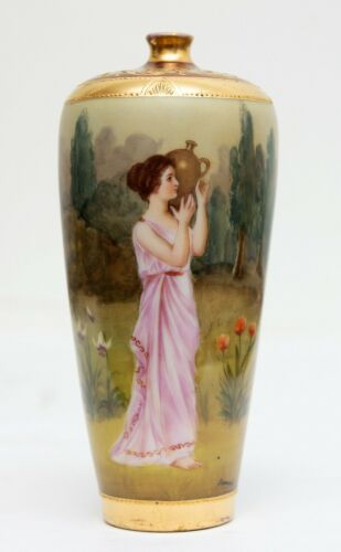 Hand Painted Royal Vienna Vase
