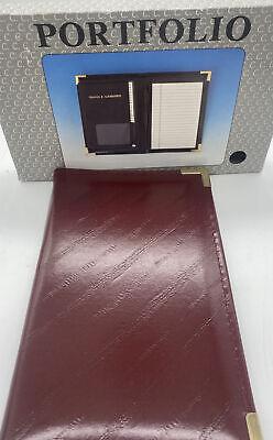 Leather Portfolio Calendar Address Book With Note Pad