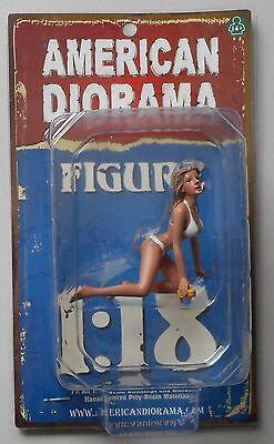 "WASH GIRL BARBARA BIKINI AMERICAN DIORAMA 1:18 Scale Figurine 3"" Female Figure"