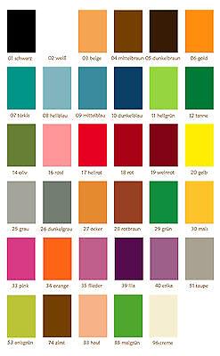 (10,00 €/qm) 5 Platten Bastelfilz, Filz 20x30 cm *freie Farbwahl* Filzplatten