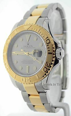 Rolex Yachtmaster Mens Gold Steel Watch w/ Papers 16623 M