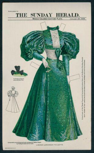 UNCUT January 26, 1896 Boston Sunday Herald Dress (7592)