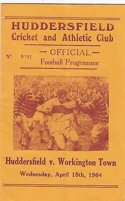 Huddersfield v Workington Town 1963/4 (15 Apr)