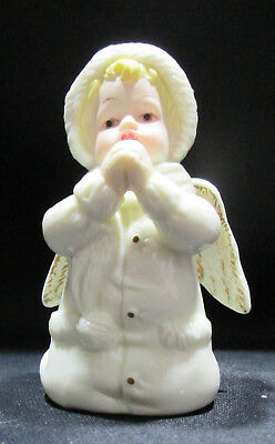 Grandeur Noel Angel Praying Figurine Collectible Porcelain Boxed C67128