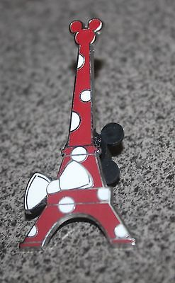 DISNEY PIN MINNIE MOUSE EIFFEL TOWER DISNEYLAND RESORT PARIS RED POLKA DOTS BOW