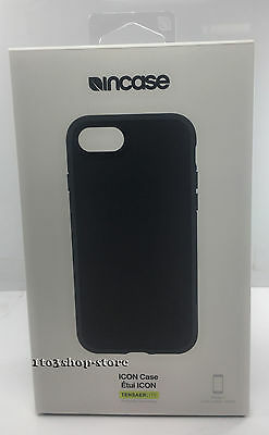 Incase Icon Hard Shell Slim Snap Thin Case Cover Skin for iPhone 7 (Black) NEW