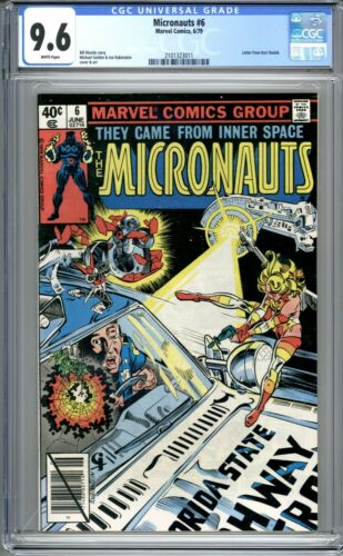 Micronauts #6 - CGC Graded 9.6 (NM+) 1979 - Bronze Age