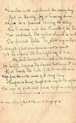 Poems - Inscription and Autograph Manuscript Signed by Robert O.F. Wynne