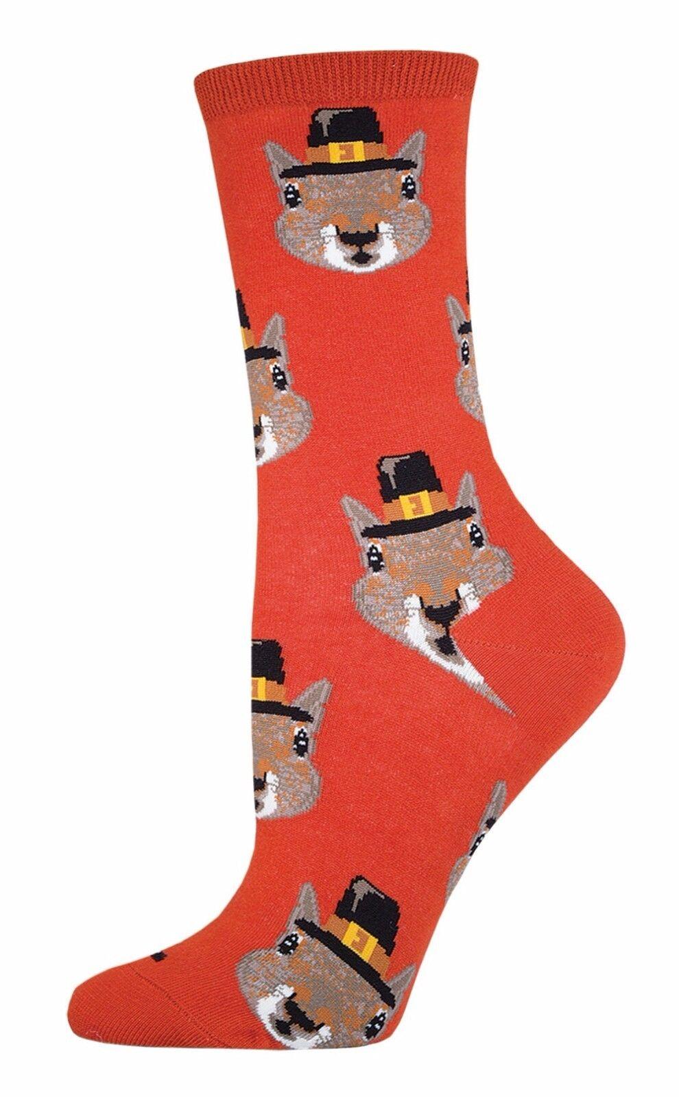 Socksmith Damen 'Neuheit Mannschafts Socken Pilgrim Eichhörnchen Fall