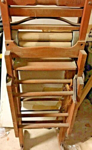 1896 Antique Wood WRINGER WASHER Folding Double Bench Anchor Brand