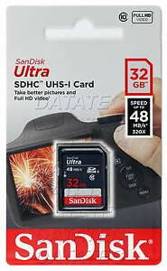 SanDisk 32GB Ultra SD Card class 10 UHS-I 48MB/s SDHC memory Full HD EXTREME 32G