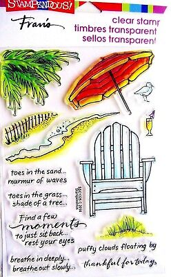 Seaside Chair Beach Clear Acrylic Stamp Set by Stampendous SSC1225 NEW!