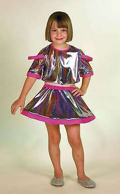 Discogirl Kostüm 116 - 140 Astro Space Girl Galaxy Fasching 2-tlg. (Galaxy Girl Kostüm)