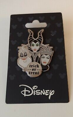 DISNEY Female Villains Maleficent, Ursula, Evil Queen Trick Treat Halloween Pin - Ursula Halloween
