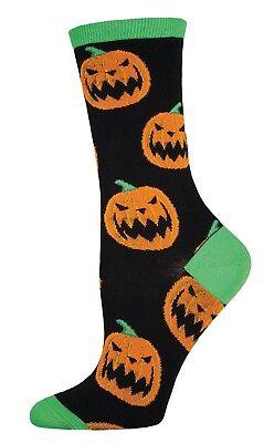Socksmith Herren Halloween Kürbisse Neuheit Mannschafts Socken Schwarz One (Halloween Socken)