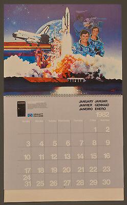 """1982 HEWLETT PACKARD """"TEN YEARS OF INOVATION"""" CALENDAR, FINE, RARE"""
