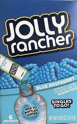 6 Kartons Jolly Rancher Blaue Himbeere Einzelbetten To Go Getränk Mischung 36 ()