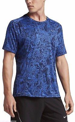 Nike Running Short Sleeve Top (New Nike Dry Men's Top  /Miler Short Sleeve Running t-shirt/sport top/ £30)