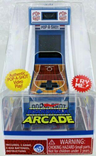 POP-A-SHOT Boardwalk Arcade Game Mini Desktop Electronic Toy Retro Doll Ball NEW