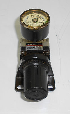 SMC AR2500-03G Air Regulator w/ Gage Unit, Used, Warranty