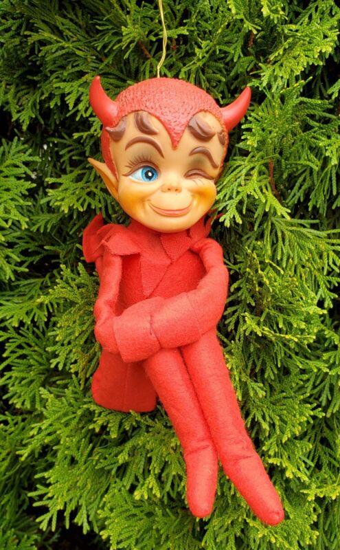 1967 Kamar Winking Devil Elf Knee Hugger Christmas Halloween Made in Japan