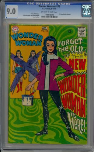 WONDER WOMAN 178 CGC 9.0 OW/W 1968 1ST NEW WONDER WOMAN (COVER) SCARCE IN GRADE