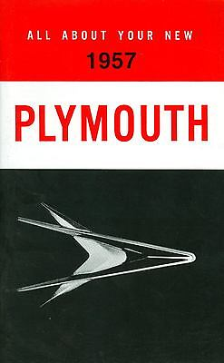 1957 Plymouth Passenger Car Owner's Manual