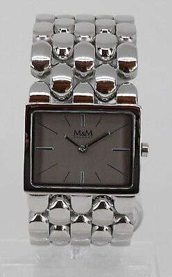 Geschäftsauflösung 198€ M&M Germany Plum Design Damenuhr Stahl M11912-147