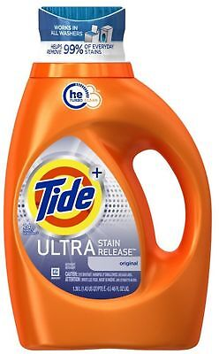 Tide Liquid Laundry Detergent, Ultra Stain Release 46 oz (Pack of 3) Ultra Laundry Detergent