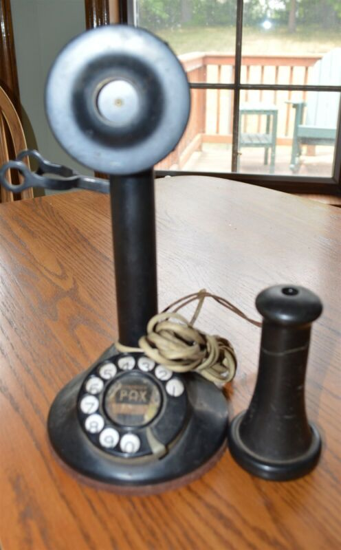 Antique Candlestick Telephone with dialer