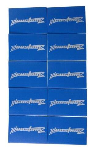 "25 Pack Oversized 1/0 AWG 0 Gauge 3/4"" Diameter Heat Shrinks BLUE"